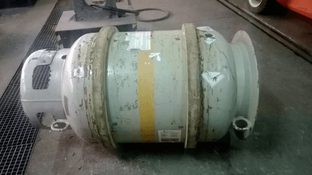 butla gazowa przed naprawą